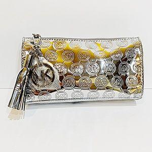 NWOT Michael Kors Metallic Silver Case/Pouch